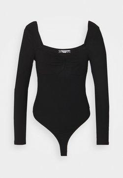 Glamorous - SWEETHEART NECKLINE  - T-Shirt print - black
