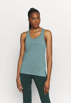 Nike Performance - YOGA LAYER TANK - Funktionsshirt - light pumice/dark teal green