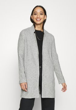 Vero Moda - VMBRUSHEDKATRINE JACKET - Krótki płaszcz - light grey melange