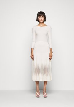 Patrizia Pepe - DRESS SEE THROUGH - Strickkleid - pure skin