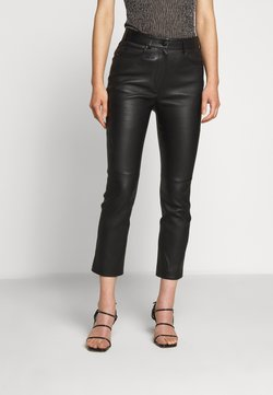 Escada Sport - LAKKILI - Leather trousers - black