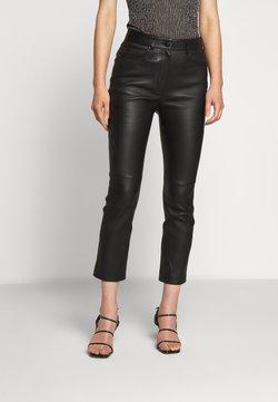 Escada Sport - LAKKILI - Pantalon en cuir - black