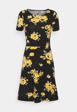 Anna Field - Jerseykleid - Black/yellow