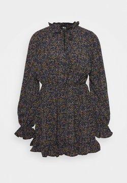 Missguided Petite - PETITE NECK KEYHOLE DRESS FLORAL - Freizeitkleid - black
