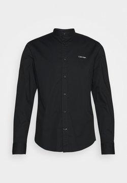 Calvin Klein - STAND UP COLLAR - Koszula - black