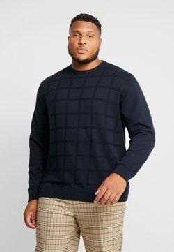 Jack´s Sportswear - GEOMETRIC PATTERN O-NECK - Pullover - navy