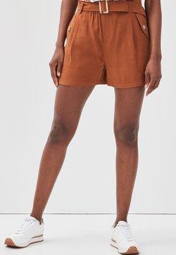Cache Cache - MIT GÜRTEL - Shorts - brown