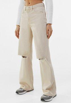Bershka - Jean flare - beige