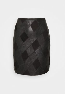 YAS - YASLYLA SKIRT - Mini skirt - black