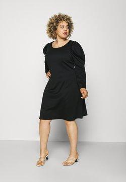 VILA CURVE - VIMALOUA PUFF DRESS - Jerseyjurk - black