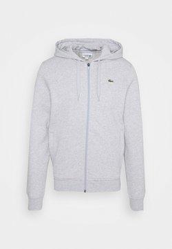 Lacoste - CLASSIC HOODIE - veste en sweat zippée - silver chine/elephant grey