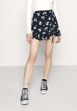 Hollister Co. - RUFFLE SKORT - Shorts - navy