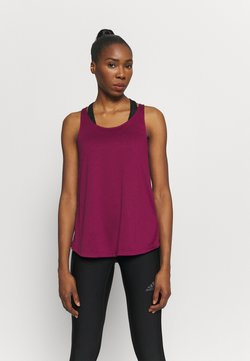adidas Performance - TUNIC TANK - Funktionsshirt - berry