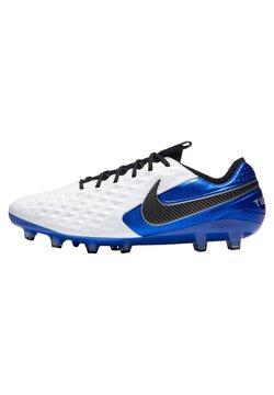 Nike Performance - TIEMPO  - Fotbollsskor fasta dobbar - weiss / blau