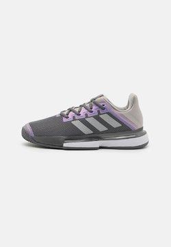 adidas Performance - SOLEMATCH BOUNCE  - All court tennisskor - grey four/silver metallic/grey two