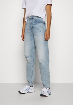 Tommy Jeans - MOM - Jeans Relaxed Fit - cony light blue comfort destructed