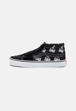 Vans - SK8 MID UNISEX - Korkeavartiset tennarit - black/true white