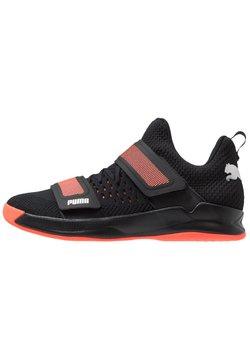 Puma - RISE XT NETFIT 1 - Zapatillas de balonmano - black/silver/nrgy red