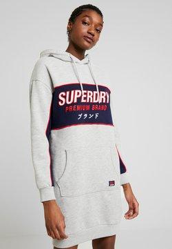 Superdry - GRAPHIC PANEL DRESS - Robe d'été - mid grey marl