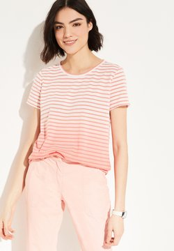 comma casual identity - T-Shirt print - coral stripes with gradient