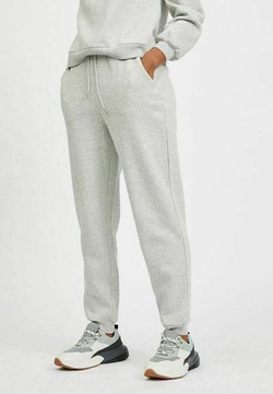 Vila - HIGH WAIST - Jogginghose - super light grey melang