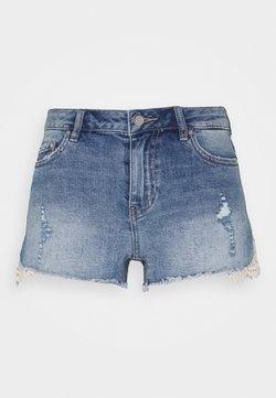 ONLY Petite - ONLCARMEN LIFE - Jeansshort - dark blue denim