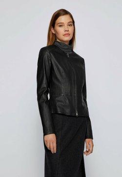 BOSS - SANOA - Leren jas - black