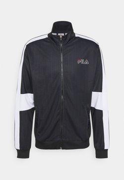 Fila - JAMESON STRIPED TRACK JACKET - Training jacket - black/bright white