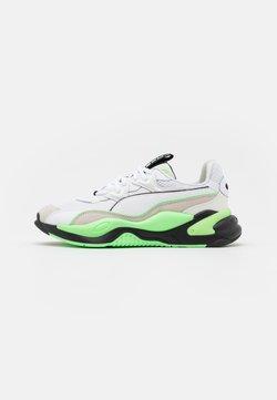 Puma - MESSAGING - Sneaker low - white/elektro green