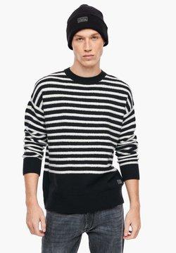 Q/S designed by - Strickpullover - cream stripes