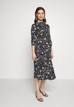 Dorothy Perkins Maternity - SKETCH FLORAL DRESS - Jerseyklänning - black