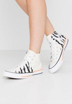 Converse - CHUCK TAYLOR ALL STAR - Sneakersy wysokie - egret/total orange/black