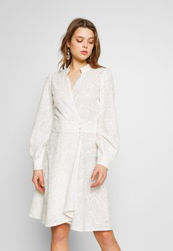 YAS - YASLYDIANNA WRAP DRESS - Blousejurk - star white