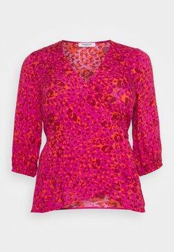 Simply Be - CRINKLE WRAP - Bluse - pink animal