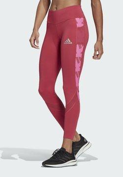 adidas Performance - OWN THE RUN CELEBRATION RUNNING LANGE TIGHT. - Tights - pink