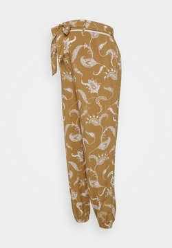 Glamorous Bloom - CUFFED TROUSERS WITH TIE BELT - Stoffhose - brown