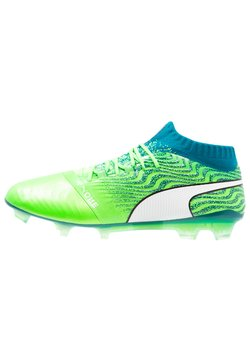 Puma - ONE 18.1 FG - Fußballschuh Nocken - green gecko/white/deep lagoon