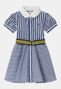Polo Ralph Lauren - MIX STRIPE SET - Blusenkleid - blue/white