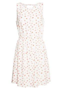 TOM TAILOR DENIM - PRINTED DRESS WITH BACK STRAP - Freizeitkleid - white
