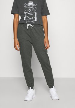 Even&Odd - Regular Fit Jogger with contrast cord - Jogginghose - mottled dark grey