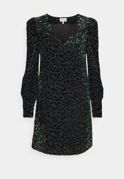 Milly - LYLAH LEOPARD DRESS - Cocktail dress / Party dress - black/green