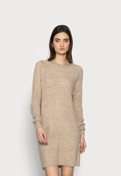 ONLY Tall - ONLCORINNE DRESS - Vestido de punto - toasted coconut melange