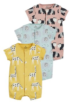 Next - YELLOW 3 PACK MONO CHARACTER ROMPERS (0MTHS-3YRS) - Jumpsuit - yellow