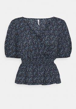 ONLY Petite - ONLPELLA WRAP SMOCK - Camiseta estampada - night sky