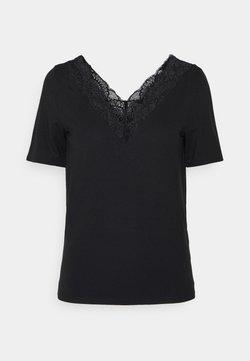 Vero Moda - VMAVA  V NECK - T-shirt con stampa - black