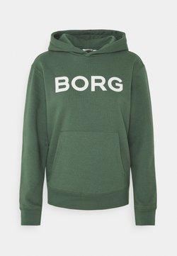 Björn Borg - LOGO HOOD - Sweatshirt - duck green