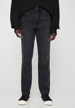 PULL&BEAR - Straight leg jeans - mottled dark grey