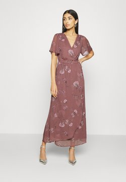 Vero Moda - VMWONDA WRAP DRESS  - Maxikjoler - rose brown