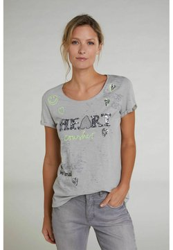 Oui - T-Shirt print - light grey