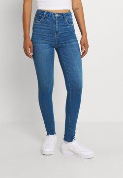 American Eagle - CURVY HI RISE - Jeans Skinny Fit - classic destruction